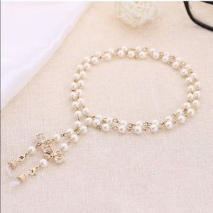 🥰3/$20 Eyeglass Chain with Bowknot Imitation Pearls